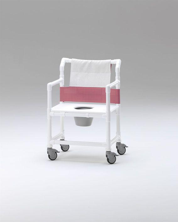 Silla con asiento en polirpopileno y respaldo textil en tejido Textilene