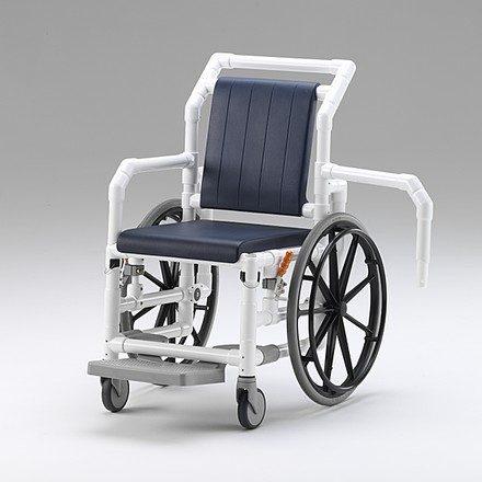 Silla de ruedas transporte de pacientes resonancia TAC con freno de parada y resposapiés
