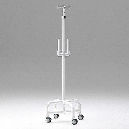 Palo de suero Resonancia con soportes para bombas y regulación de altura