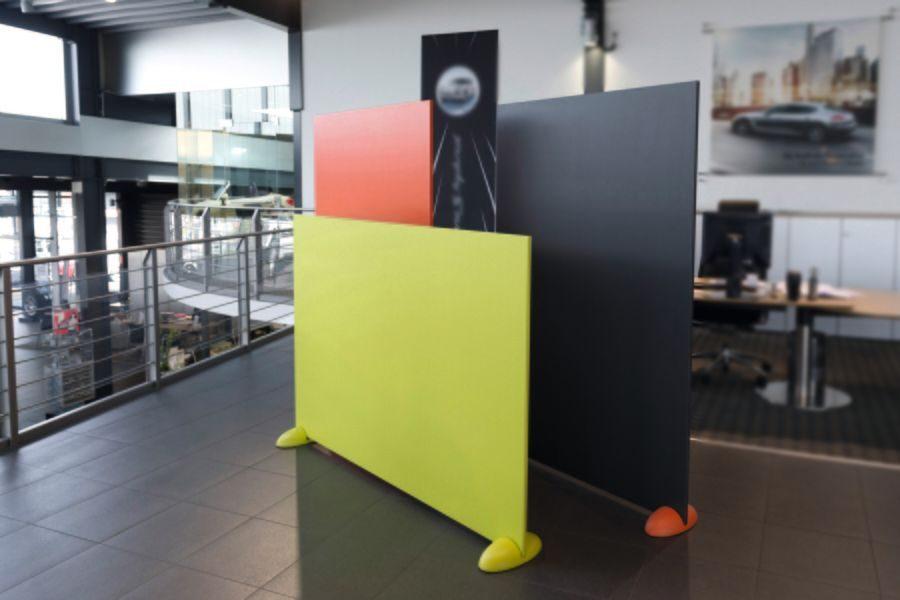 Divi Sound tabique acústico fonoabsorbente con perforaciones en HPL para oficinas y colectividades